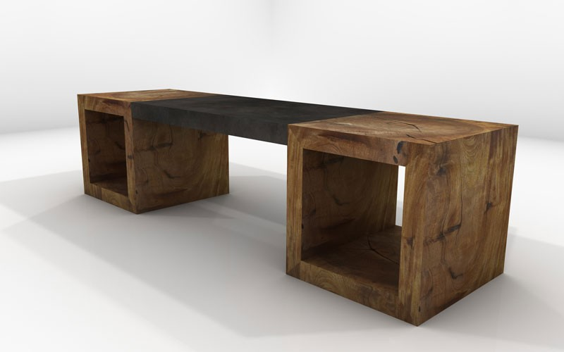 Adara Bench Sustainable Solid Wood Living Room Furniture