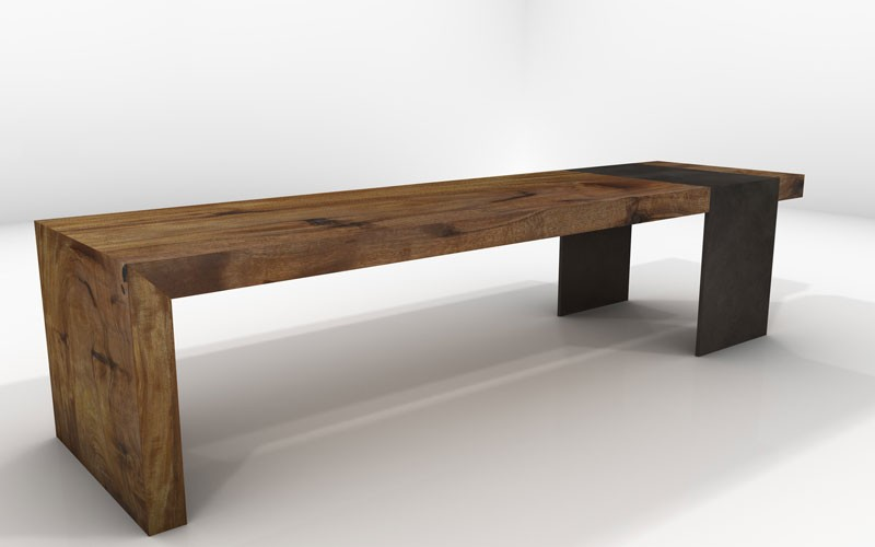Deneb Bench Sustainable Solid Wood Living Room Furniture