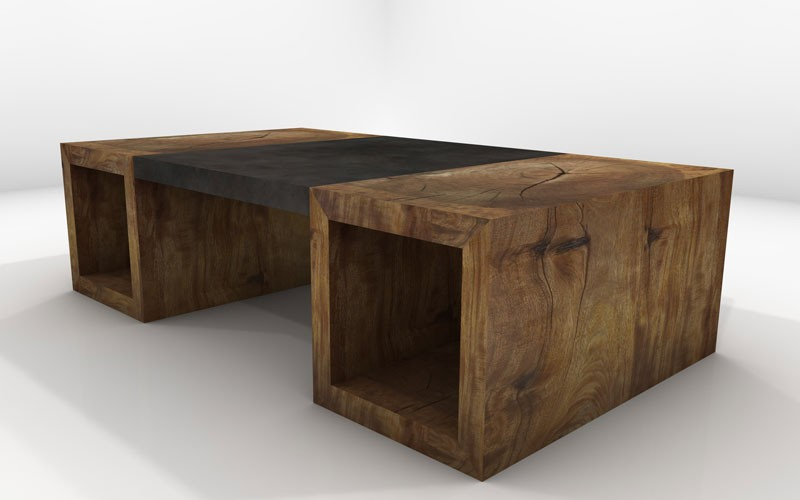 mira coffee table- sustainable solid wood living room furniture