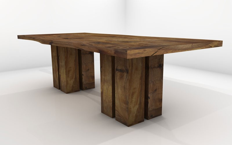 Vela Dining Table Sustainable Solid Wood Dining Room