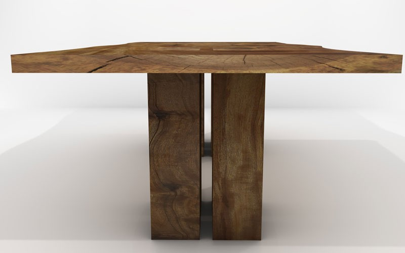 Vela Dining Table Sustainable Solid Wood Dining Room Furniture Jh2
