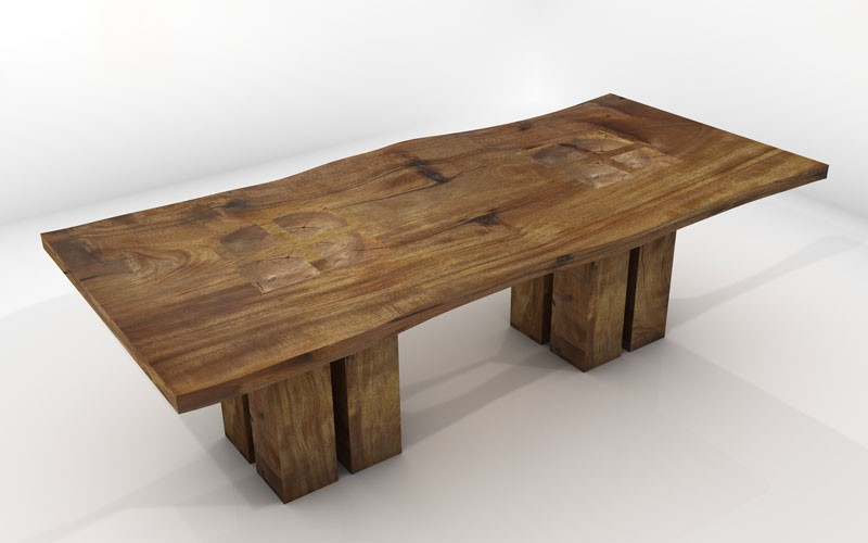 Vela Dining Table Sustainable Solid Wood Dining Room Furniture - Cheap reclaimed wood dining table
